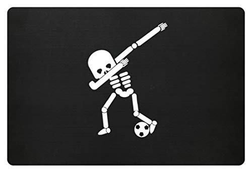 Generic Dabbing Skelett Fußball Spielen Spieler WM Halloween Dab - Schlichtes Und Witziges Design - Fußmatte (Fußball-spieler Für Halloween)