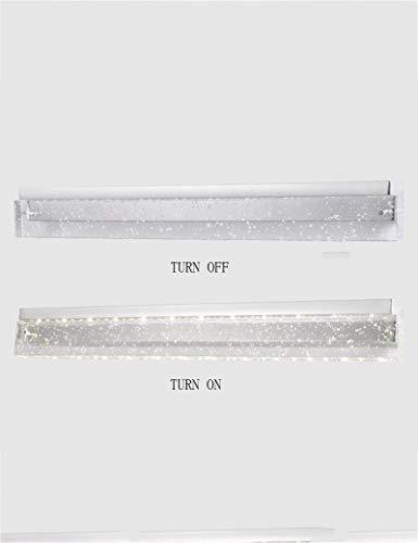 Moderner Schminkspiegel (MOM Spiegel-Scheinwerfer, Badezimmer-Spiegel-Front-Make-Up-Lampe LED-Kristall-Wasserdichter Edelstahl-Spiegel-Frontlichter Moderner minimalistischer Schminkspiegel-Frontlichter Wasserdicht und Anti-F)