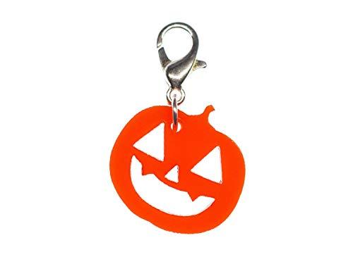 Miniblings Kürbis Halloween Charm Anhänger Bettelarmband Charms Acrylglas orange
