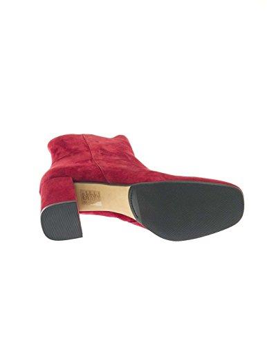 BRUNO PREMI I3000P BOOTY rosse tacco CAMOSCIO Rosso