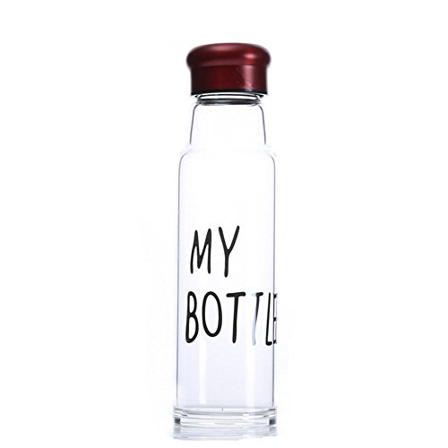 nykkola Cristal de borosilicato Botella de agua con funda de nailon (5