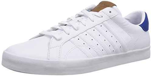 K-Swiss BELMONT, Sneakers basses homme Blanc - Weiß (WHITE/CLASSIC BLUE 117)