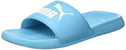 Puma Unisex-Erwachsene Popcat Hausschuh, Blau (Blue Atoll-Puma White 17), 39 EU