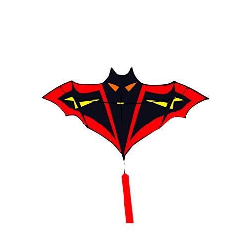 VIVIANU 1.8m / 5.91ft Cometas De Murciélagos De Dibujos Animados, FRP Barra De Resina Flying Sports Beach Ripstop Nylon Kitesurf, Regalo Para Niños
