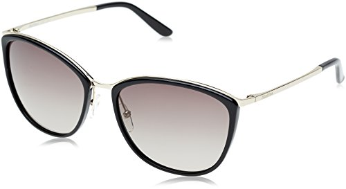 Max Mara Damen MM CLASSY I HA NO1 58 Sonnenbrille, Schwarz (Ltgld Black/Brown Sf),