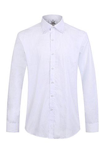 Price comparison product image 100% Long Sleeve Cotton Work leisure Formal Shirts Light Blue (18 XXL)