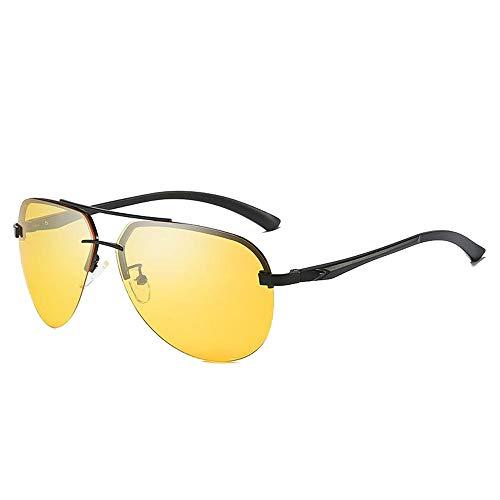 WULE-Sunglasses Unisex Männer und Frauen Sonnenbrille Muschel Brille Classic Driver Fahren nachtsichtbrille polarisierende Sonnenbrille für (Color : 01Night Vision Film, Size : Kostenlos)