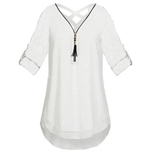 d-Farben aus 100% Baumwolle, Auch in Übergrößen, Längeres Shirt für drüber und Drunter (XXL,Weiß) (Adidas Trainingsanzug Kostüm)