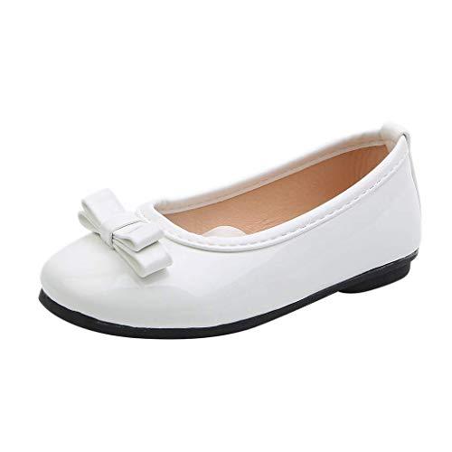 CixNy 1-12 Jahre Tanzschuhe Kleinkind Sommer Mädchen Kinderschuhe Schuhe Versteckter Schuhriemen Einfarbig Einzelne Schuhe Weich Unterseite Klettband Lederschuhe Mädchen Prinzessin...