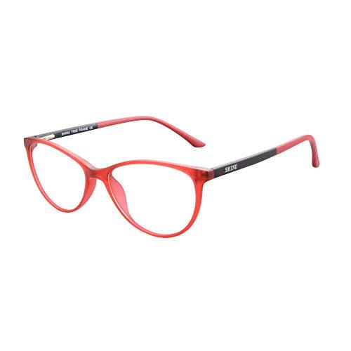 SHINU Anti Blue Ray Myopie Brille TR90 Rahmen fur Frauen-SH086(C1,600)