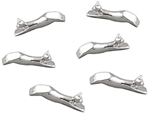 Silea 44/4394 Set de 6 Porte Couteau Chat Plaquage Nickel