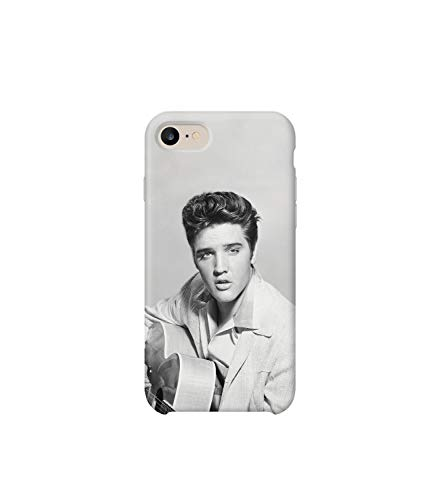 GlamourLab Elvis Presley King Guitar Young Protective Case Cover Hard Plastic Handyhülle Schutz Hülle for Samsung Galaxy S7 Gift Christmas (Elvis Passt Presley)