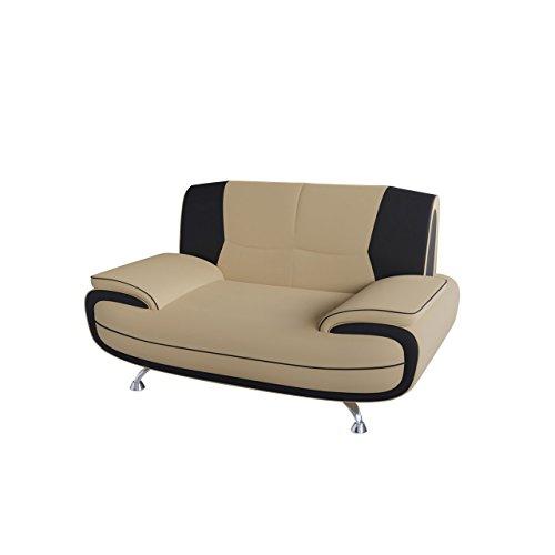 Mirjan24  Zweisitzer Sofa Palermo 2, Relaxsofa vom Hersteller, Polstermöbel, Modern Couch, Große Farb- und Materialauswahl, Sofagarnitur, Couchgarnitur (D-100 + D-8) (Moderne Sofa Polstermöbel,)