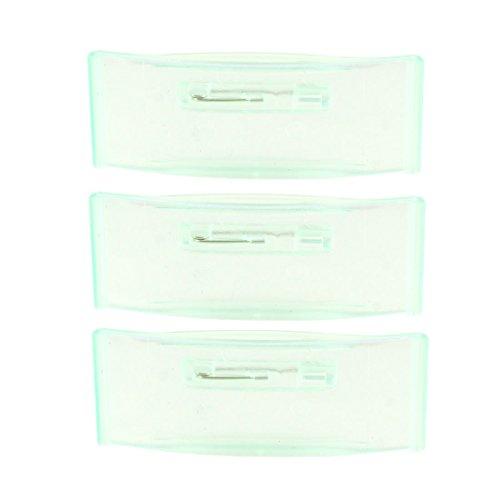 Sourcingmap Kunststoff Rechteck Arbeit Nummer Namensschild Clip Halterung–Green (Stück)