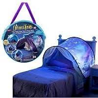 Tiendas de ensueño tienda plegable acampar al aire libre Senderismo niños Pop Up tienda de campaña Playhouse, tamaño gemelo, mundo de ensueño mágico, aventura espacial (Tienda de fantasía Unicornio País de las maravillas)