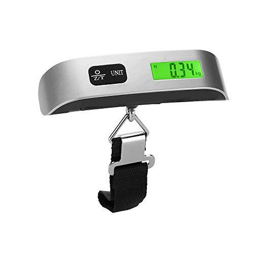 Bilancia digitale portatile bilancia pesa valigia per valigie da viaggio per viaggi/aperto/casa,110 lb/ 50kg