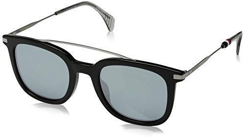 Tommy hilfiger th 1515/s t4 807 49 occhiali da sole, nero (black/gy grey), uomo
