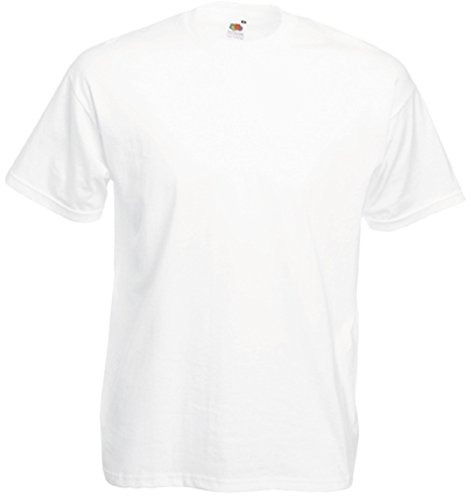 Fruit of the Loom T-Shirt S-XXXL in verschiedenen Farben L,Weiß