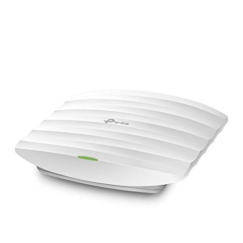 TP-Link EAP225 WLAN Access Point (Dualband 1350 Mbit/s mit Mu-MIMO, professionelles Design für Sehr Große Reichweite, Passend für Wand- und Deckenmontage, unterstützt 802.3af Poe und Passives Poe) (Point Ein Access)