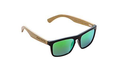 NOBLEND Bambus Freizeit Sonnenbrille aus Bambus. UV400 Schutz - Polarisiert - Blau/Orange oder Grün Verspiegelt! Unisex für Sie und Ihn - Qualität & Lebensgefühl - GRÜN