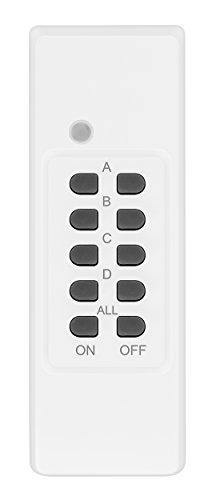 mumbi Fernbedienung für mumbi 4-Kanal Outdoor Funksteckdosen der Serie AFS202 - Plug & Play - 1 Fernbedienung weiss