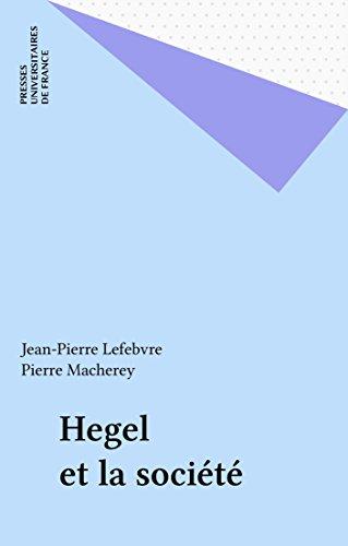 Hegel et la société