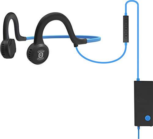 AFTERSHOKZ Sportz Titanium Ecouteur Bluetooth Casque Conduction Osseuse câble avec microphone, Bleu