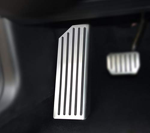 Topfit Fußstütze Dead Pedal Abdeckung Edelstahl Anti-Rutsch Performance Accelerator Plate Cover für Modell 3