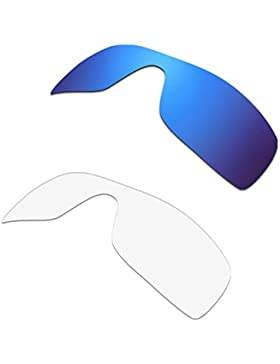 HKUCO Plus Replacement Lenses For Oakley Batwolf Sunglasses Blue/Transparent Polarized