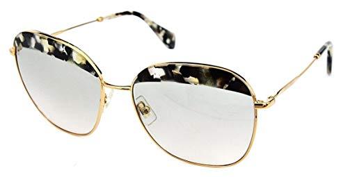 Miu Miu Damen MU53QS Sonnenbrille, Braun (Havana Marble White Black DHE3H2), One size (Herstellergröße: 59)