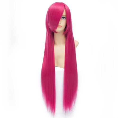 QIYUN.Z Angelbeats Ichinose Kotomi Kasuga Nozomi Lange Gerade Pfirsich Rot Cosplay Anime Kostüm Kunstfaser Haar Hitzebeständig Volle Perücke Für (Pfirsiche Kostüme)