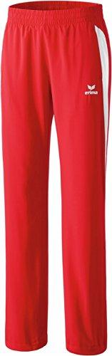 Erima Damen Premium One Präsentationshose, Rot/Weiß, 38, 110443