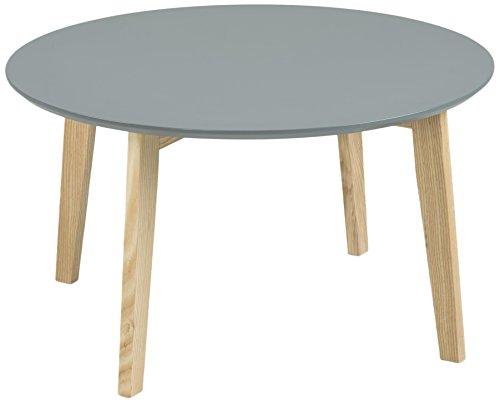 AC Design Furniture Table Basse 60334, Mia Table en Bois laqué, laqué Gris foncé