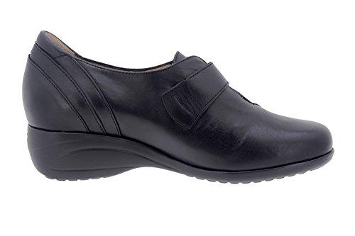 Chaussure femme confort en cuir Piesanto 7976 casual comfortables amples Noir