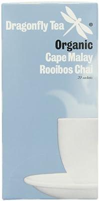 Dragonfly - Sachets de thé chai rooibos Cape Malay (lot de 4 boîte de 20 sachets, total 80 sachets)