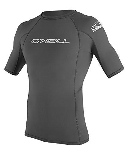 O 'Neill Neoprenanzug Herren UV-Sonnenschutz Basic Skins Short Sleeve Rash Guard Crew Shirt graphit
