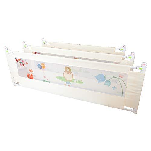 Barrières MAHZONG 1.5-2.0 M Lit pour Enfants Garde-Corps Clôture de lit pour bébé Contre-Chute Anti-Chute (Taille : L-200cm)