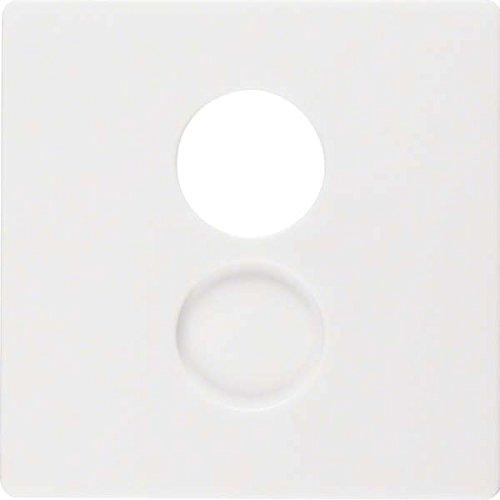 Hager Q.1polar–Zentralplatte für Antennen Lautsprecher weiß (Antenne Lautsprecher)