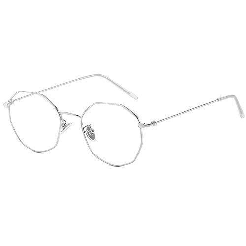 Hexagon Brillen Blaues Licht Computer-Gläser zum UV-Blockierung Kopfschmerzen Anti-Auge Überanstrengung der Augen Metallrahmen