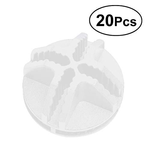 Vosarea Conectores plásticos del Cubo del Alambre 20Pcs para el Almacenamiento Modular del Cubo del Armario del Armario y de la Red del Alambre