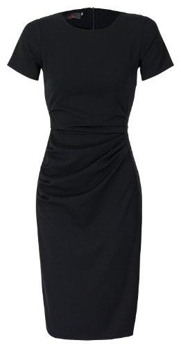 Étui élégant businesskleid à manches courtes Noir - Noir