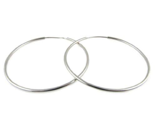 Alberta Orecchini a cerchio argento 925, diametro 40mm misura media