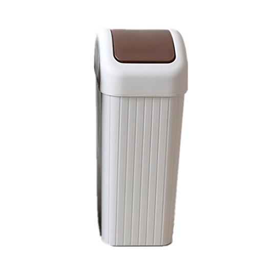 Preisvergleich Produktbild FYN® Trash Trash Haushalt Küche LivingRoom Deckel Kunststoff Mülleimer Büro Schlafzimmer Kreativ Bedeckt: 8.5L / m Weiß