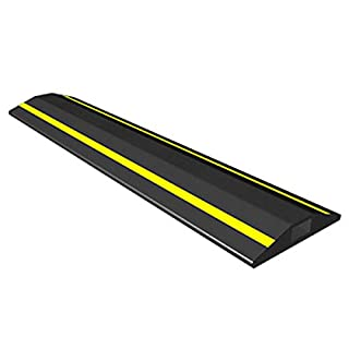 Allcam 3-metre FCP Rubber Floor Cable Cover/Cable Protector w/Visible yellow Stripes & 15x 8 mm Cable Channel