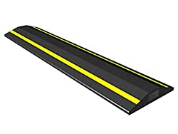 Allcam 3-metre Fcp Rubber Floor Cable Coverheavy Duty Cable Protector Wvisible Yellow Stripes & 15x 8 Mm Cable Channel
