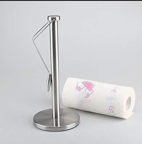 zzyuanwei Küchenrollenhalter Edelstahl-Papierhandtuchhalter Küchenpapierhandtuchhalterrolle Papier Wohnzimmerrolle Papierhalter Papierhandtuchhalter -