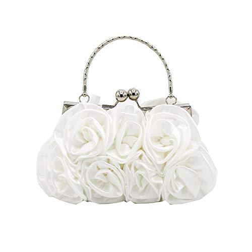 Fiore di seta borsette da sera/frizioni/top borse maniglia per il partito di promenade e nozze