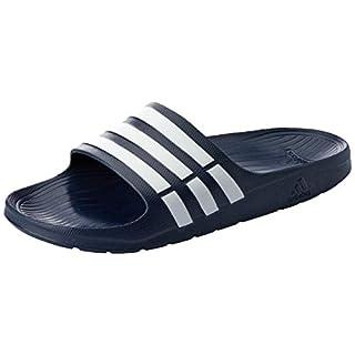 adidas Duramo Slide, Men's Open Toe Sandals, Black (Black/White/Black), 13 UK (48 2/3 EU)
