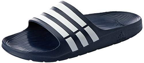 Adidas Duramo Slide, Chanclas Unisex, Azul New Navy/White/New