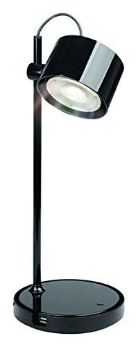 iDual LED-Tischleuchte Jasmine (Hochglanzschwarz) mit Fernbedienung. Warmweiß bis Kaltweiß; Dimmfunktionen; Multicolor-Umgebungs- und Stimmungslicht. 430 lm.